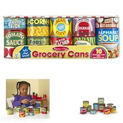 Lets Play House Toy Grocery Cans Kitchen Food Kids Pretend Toys New $15.99