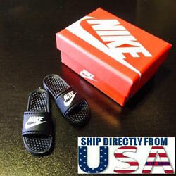 1 6 Men Shoes Nike Style Sandals Slides Slippers For Figure Box is not included $16.99