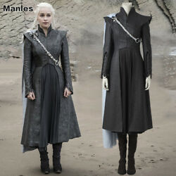 Game of Thrones Season 7 Daenerys Targaryen Costume Cosplay Halloween Dress Set