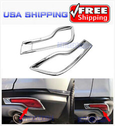 Chrome Rear Bumper Fog Light Cover Trim Decoration fits 2017-2019 Honda CR-V CRV $17.94