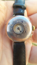 Antique Rolex military silver half hunter wrist watch unusual rare working