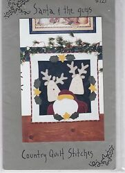 Country Quilt Stitches Pattern Christmas Santa & The Guys Wool Felt Project
