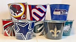 NFL Aluminum Beer Bucket 5 QT Drink Party Ice Metal Pail - Choose Your Team  $18.99