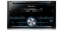 Pioneer 2-DIN Car Stereo CD Player Receiver w Bluetooth USB AUX  FH-S500BT