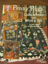 PENNY RUG PATTERNS applique quilt and more with wool felt Carruth Hendricksen