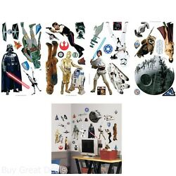 Star Wars Classic Peel And Stick Wall Decals Wall Stickers Decor For Both Kids $14.99