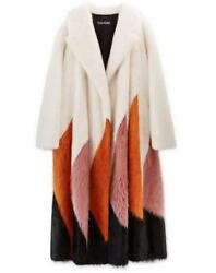 New Tom Ford FW 2016 Collection Mink Long Coat White Orange Pink Black It. S