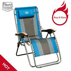 Timber Ridge Oversized XL Padded Zero Gravity Chair Outdoor Home Supports 350lbs