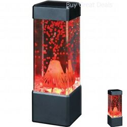 Red Volcano Lava Lamp Table Electric Vintage Look Art Lamps Deco Living Room Toy $25.99