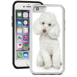 For iPhone X SE 5s 6 6s 7 8 Plus Shockproof Hard Soft Case 1461 White Poodle $14.99