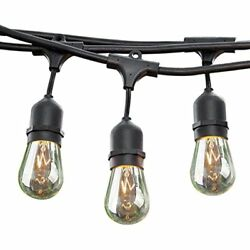 24 Ft String Lights Long Patio Outdoor Weatherproof Commercial Grade Great For