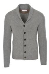 Brunello Cucinelli Cardigan Men's 46 Gray Cashmere   knitted