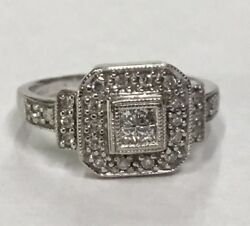 Beautiful White Gold Magic Glo Diamond Ring Approx 1 2cttw Size 4.5 $199.99