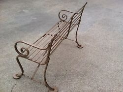 ANTIQUE FRENCH CAST IRON PARK BENCH