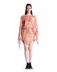 RECENT CHIC GORGEOUS Emilio Pucci abstract print floral silk Kaftancover dress