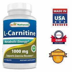 Best Naturals L Carnitine 1000mg 60 Tablets *Boosts Energy* $9.99