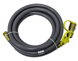 Patio Heaters Flexible High Pressure Line Natural Gas Hose Quick Connect 12 Feet