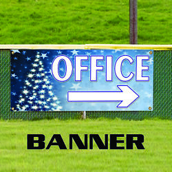 Office with Right Arrow Christmas Commercial Business Advertising Banner Sign