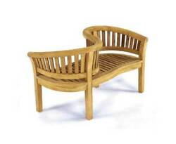 Curve Love Seat Bench - Unfinished [ID 41500]