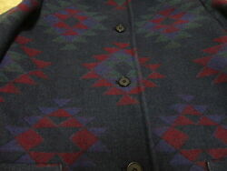 VINTAGE INDIAN PATTERN PENDLTON WOOL  JACKET GREAT COND NOT MUCH USED WON M