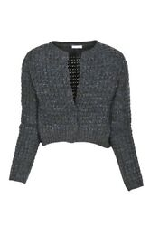 Brunello Cucinelli Cardigan Women's M IT Gray Cashmere   knitted