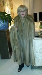 Russian Golden Sable Cape By Alixandre Extra Long Fur+ Scarf List price $ 58000