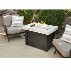 Outdoor Great Room Providence Crystal Fire Pit Table w White Onyx Top