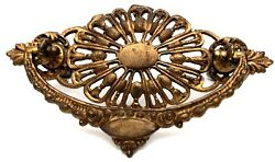 Circa 1875 Antique Hardware Ornate Brass Victorian Drawer Pull 3