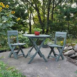 Outdoor  Folding Patio  Bistro Cafe Garden Yard Table Chairs Set
