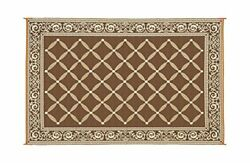 Patio 6 x 9 ft. RV Trailer Rug Camping Deck Outdoors Beach Large