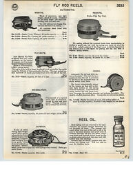 1935 PAPER AD Automatic Fly Fishing Reel Oreno Perrine Fly Wate Meisselbach $9.98