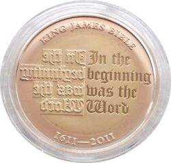 2011 Royal Mint King James Bible £2 Two Pound Gold Proof Coin Box Coa