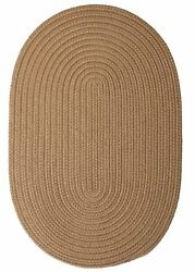Coffee Oval Braided Rug  IndoorOutdoor Rug Made in USA
