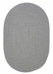 Gray Oval Braided Rug  IndoorOutdoor Rug Made in USA