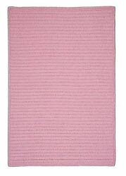 Simply Home Solid H051 Light Pink IndoorOutdoor Ultra Durable Rug by Colonial M