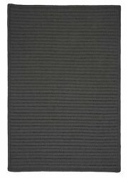Simply Home Solid H661 Gray IndoorOutdoor Ultra Durable Rug by Colonial Mills