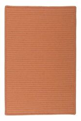 Simply Home Solid H073 Rust IndoorOutdoor Ultra Durable Rug by Colonial Mills
