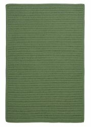 Simply Home Solid H123 Moss Green IndoorOutdoor Ultra Durable Rug by Colonial M