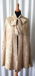 Antique Victorian Embroidered Silk Cape