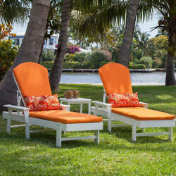 POLYWOOD South Beach Adirondack Chaise Lounge