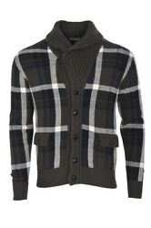 Cruciani Cardigan Men's 50 Olive Cashmere   knitted