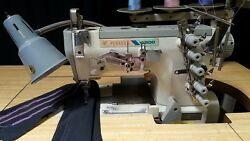 Pegasus W-562-01 Coverstitch 3-Needle 5-Thread Industrial Sewing Machine 110V