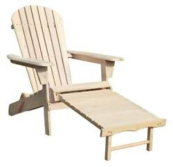 Adirondack Chair Kit with Pullout Ottoman [ID 3680876]