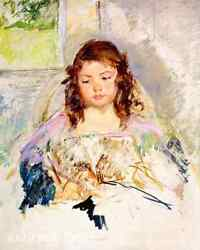 Sketch for Francoise Sitting in Round Backed Chair by M Cassatt 8x10 Print 1526
