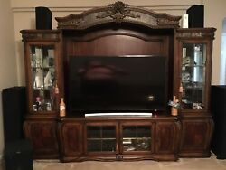 AICO Wall Entertainment Center Oppulente Collection in Sienna Spice AI-6709-1