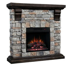 Stacked Stone Electric Fireplace Classic Flame Pioneer Compact