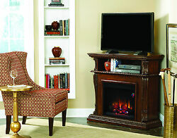 Classic Flame Electric Fireplace Corinth Media Convertible Infrared 3-D 2 Colors