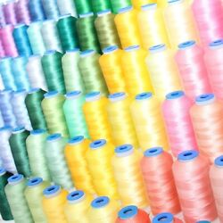 INDIVIDUAL CONES OF POLYESTER MACHINE EMBROIDERY THREAD - 1000M - 200+ COLORS