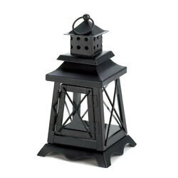 Black Metal Watch Tower Candle Lantern Events Patio Lodge Cabin Collectors Decor