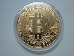 Bitcoin Gold Plated Physical Bitcoin BTC Cryptocurrency Collectible Coin in Case $5.99